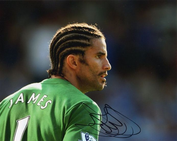 David James, Portsmouth, signed 10x8 inch photo.